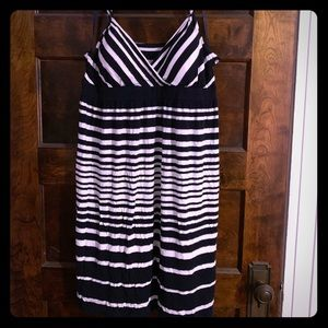 Silver white and navy INC dress